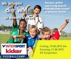 2. inklusives Intersport Kicker Fussballcamp beim SV Sorgensen