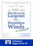 Konzertplakat 'Musikverein Langenei meets Westfalen Winds'