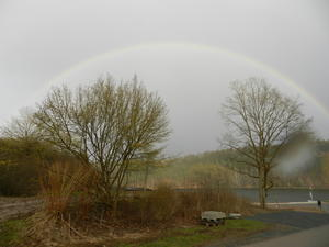 Regenbogen am Twistesee.