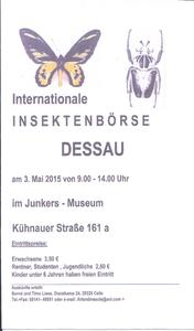 Internationale Insektenbörse in Dessau