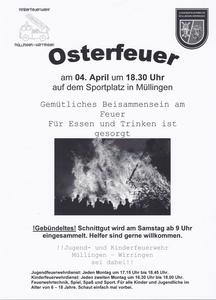Osterfeuer in Müllingen