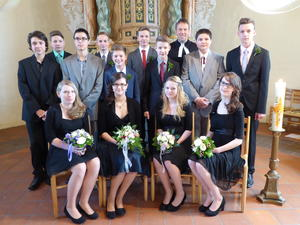 Konfirmation in Badenhausen am 12. April 2015