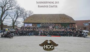 Saison Eröffnungs-Tour des Harley Chapter Hannover