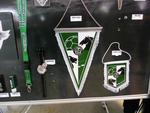 . . . TSV Hannover-Burgdorf, die Embleme usw. im Shop der 'Swiss Life Hall' in Hannover . . .