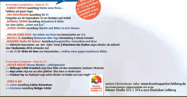 OPEN HOUSE Im Atelier freiart: Blaues Wunder - selbstgemacht ...