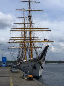 Gorch Fock in 'Ruhestellung'