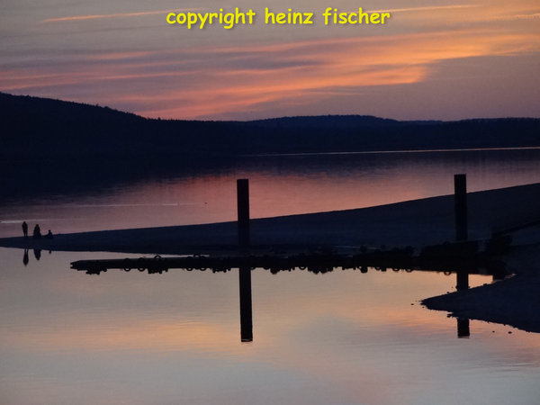 brombachsee, sunset