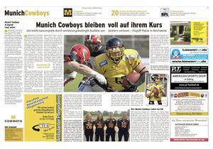 MUNICH COWBOYS NEWS