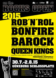on the ROCKS OPEN  2105  @ Schloßplatz Günzburg  ,