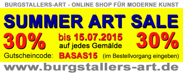 SUMMER ART SALE bei Burgstallers-Art