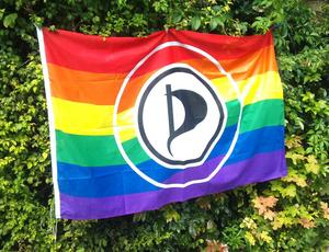 Piratenstand beim CSD  am 15.08-2015
