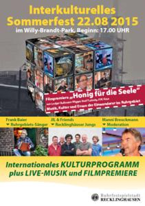 Interkulturelles Sommerfest im Willy-Brandt-Park in Recklinghausen
