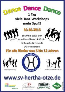 SV Hertha Otze veranstaltet Tanz-Workshop 'Dance Dance Dance' am 10. Oktober 2015