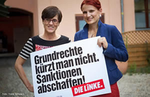 Inge Hannemann (links) und Katja Kipping