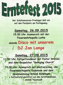 Erntefest in Frielingen