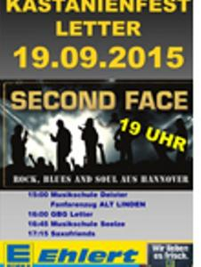 Kastanienfest Letter - Second Face ab 19:00 am Samstag, den 19. Sept. 2015