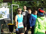 Mandy Krause vor dem Start
