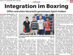 Integration im Boxring