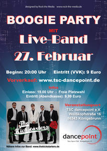 Boogie Party mit Live-Band (The Kickstarters)