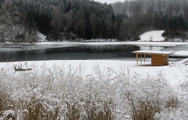winter, strandbad, twisesee