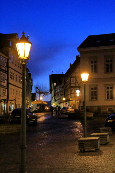 bad-wildungen, winterabend
