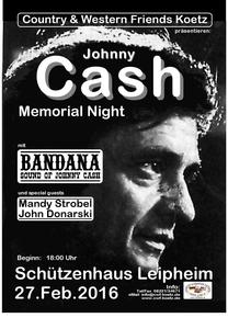 Johnny Cash Memorial Night zum 84. Geburtstag des 'Man in Black'