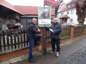 ÜBE/FWG Plakataktion in Ebsdorf