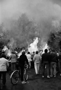 Osterfeuer 1985 in Wülfel.