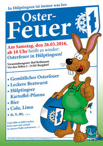Osterfeuer 2016 in Hülptingsen!