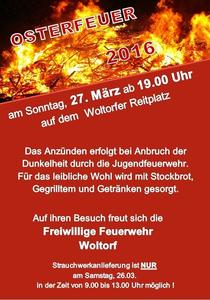 Osterfeuer in Woltorf
