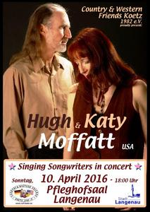 Singing Songwriters aus den USA: Hugh & Katy Moffatt gastieren im Pfleghofsaal Langenau