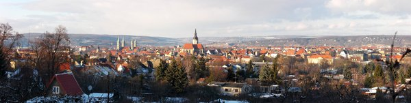 Naumburg Panorama im Winter