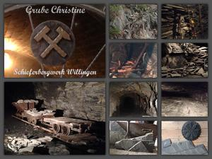 Collage Schieferbergwerk Willingen 'Grube Christine'