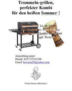 'Friedberg in Takt' Trommeln Workshop 2016 - Pfarrzentrum St. Jakob und Trommel-Grillen