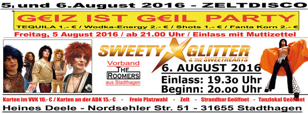 Sweety Glitter & The Sweathearts in Stadthagen