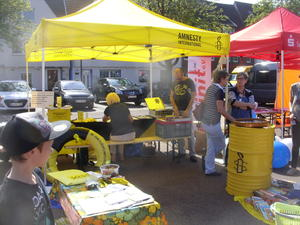 Der Stand der Amnesty International Gruppe