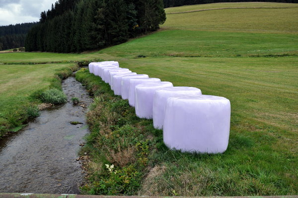 Kunst am Bach ?     War Christo hier ?
