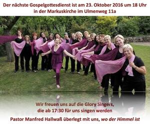 Gospelgottesdienst am 23.10.2016 in Hildesheim
