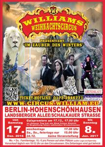 Williams Weihnachtscircus in Berlin 'Roberto Wille - Tierreiche Acts der Sonderklasse'