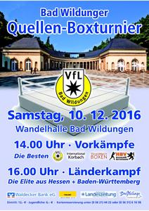 Quellen-Boxturnier am 10.12.2016 in Bad Wildungen