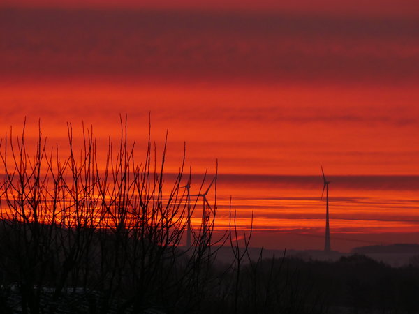 sonnenaufgang, morgenrot, roter-himmel