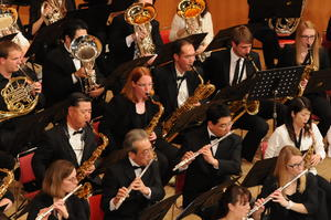 Die 'Omiya Wind Symphony' und 'Westfalen Winds' in der Omiya Citizen Hall, Saitama, Japan, 2015