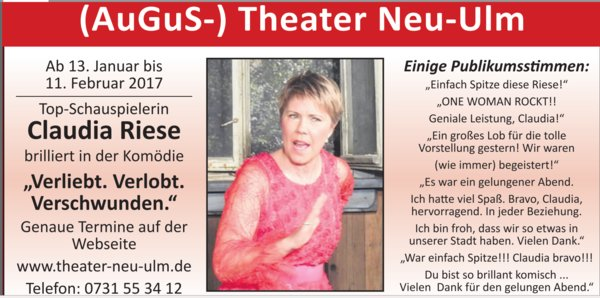 theater, komödie, theater-neu-ulm, top-schauspielerin-claudia-riese, theatermacher-heinz-koch, theatermacher-duo