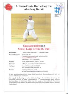 Karate Spezialtraining mit Sensei Luigi Bettini