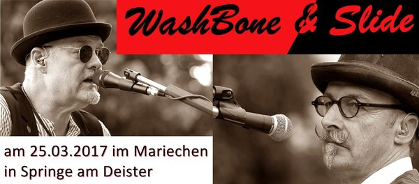 WashBone & Slide Blues mit Hut  im Mariechen