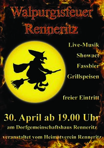 Live-Musik zum Walpurgisfeuer am 30. April in Renneritz