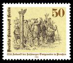 1732 Ankunft der Salzburger Emigranten in Preußen > Sonderbriefmarke der Deutschen Bundespost Berlin vom 5. Mai 1982 > https://de.wikipedia.org/wiki/Datei:Stamps_of_Germany_(Berlin)_1982,_MiNr_667.jpg