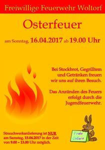 Osterfeuer 2017 in Woltorf