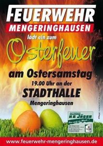 Osterfeuer in Mengeringhausen