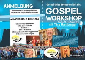 Offener  Gospelworkshop mit Tine Hamburger in Bockenem